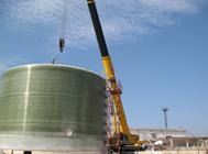 潮州现场缠绕16米x10米大罐吊装